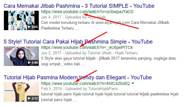 "ketik ""hijab pasmina"", cek no 8,9,10. YOUTUBE lagi?!"