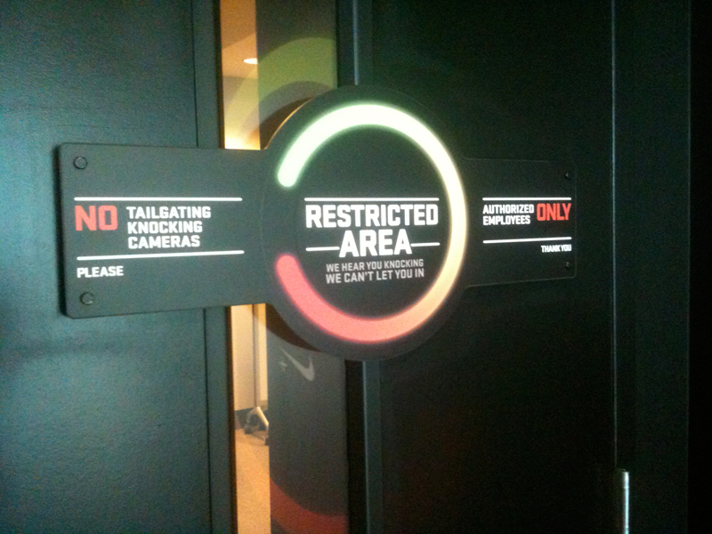 restricted area access denied